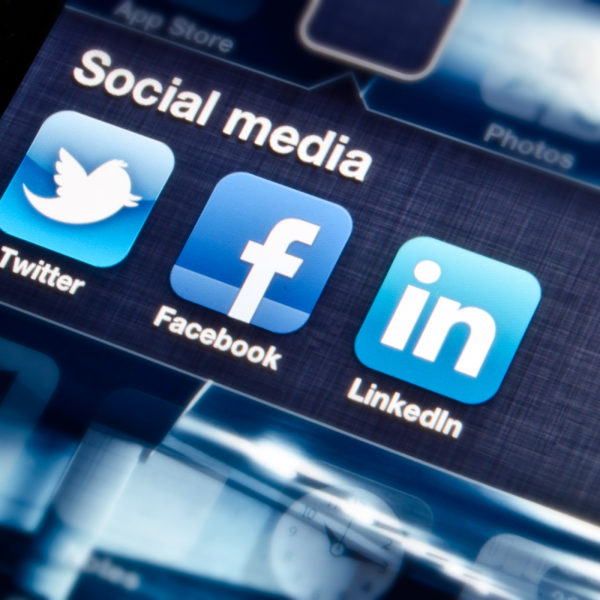 Social Media icons in blue